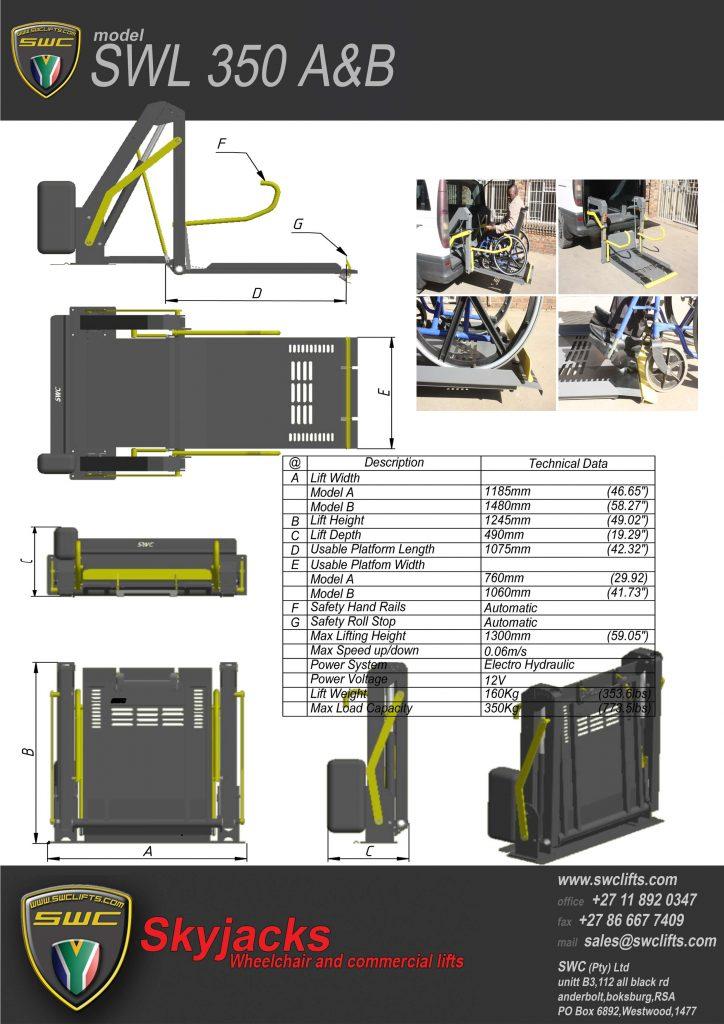 Double Arm Wheelchair - SWL-350-15-A-Brochure